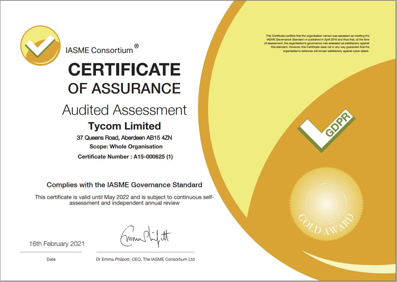 IASME Certificate
